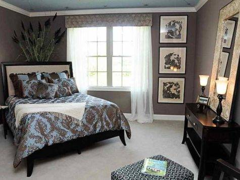 Bedroom Brown Blue Interior Design Girls