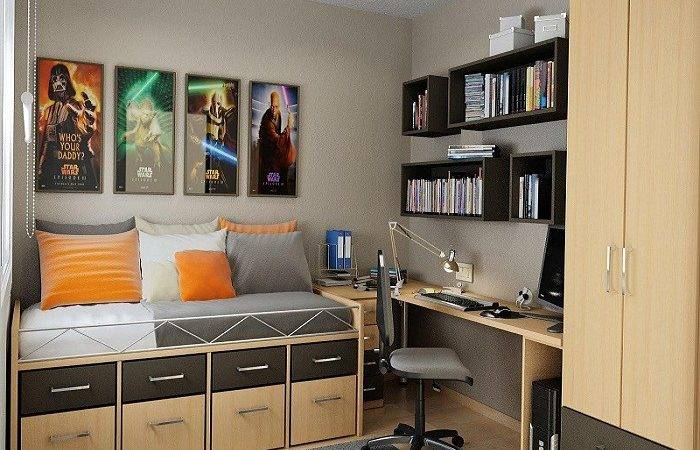 Bedroom Brown Decorating Ideas Small