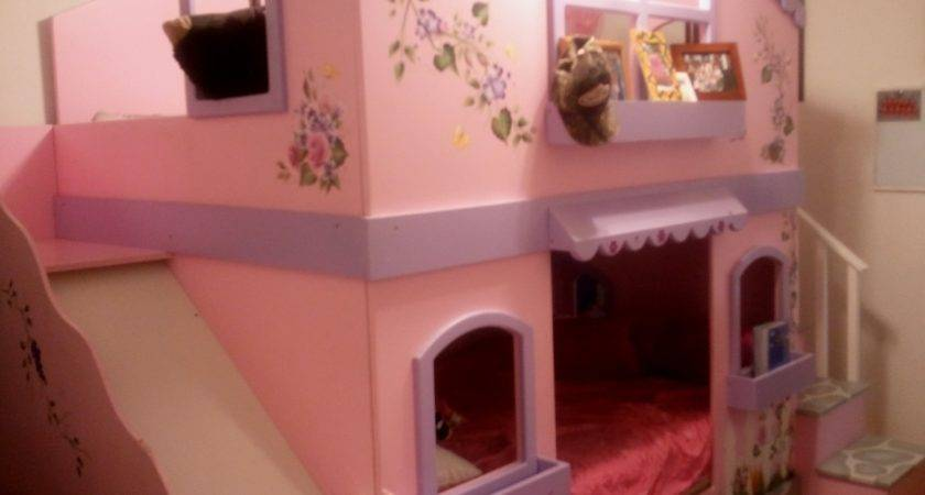 Bedroom Castle Slide Bed Unique Princess Bunk Girls