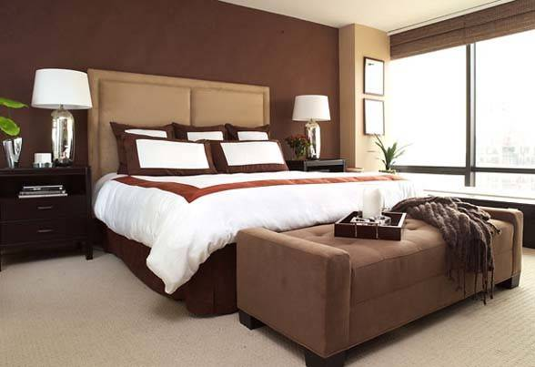 Bedroom Color Idea Brown Comfotable