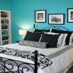 Bedroom Deco Pink Turquoise Black White