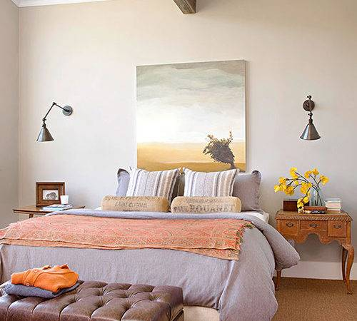 Bedroom Decorating Ideas Hang Over Bed