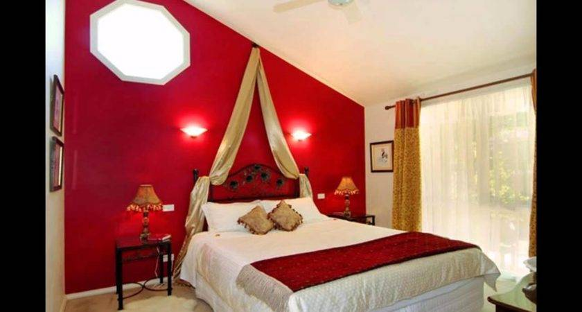 Bedroom Decoration Ideas Wall Design Endearing Red