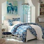 Bedroom Extraordinary Girl Blue Black