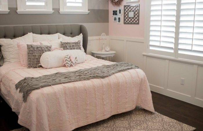 Bedroom Grey Pink Ideas White