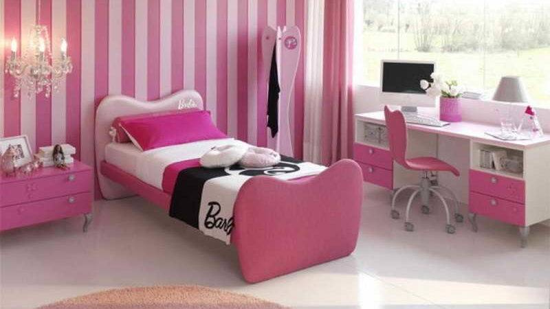 Bedroom Ideas Girl Bedrooms Stripped Wall