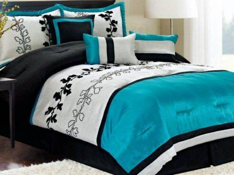 Bedroom Ideas Teal Black White