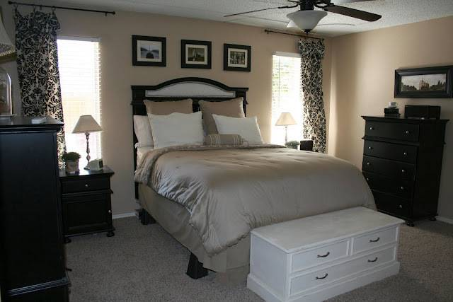 Bedroom Inspiration Beige Black White Pinpoint