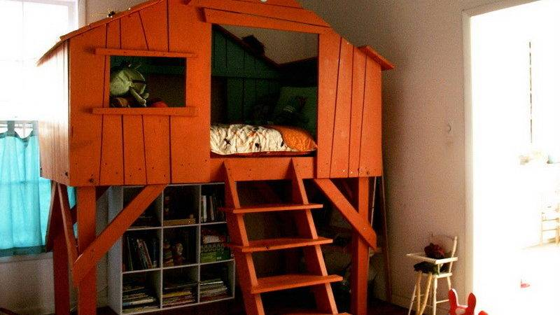 Bedroom Kids Treehouse Design