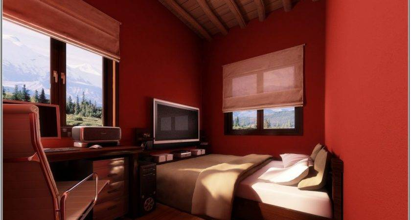 Bedroom Luxury Decorating Ideas Brown Red