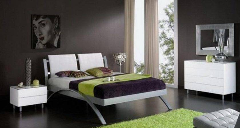 Bedroom Modern Room Design Ideas Guys Dark Gray Wall