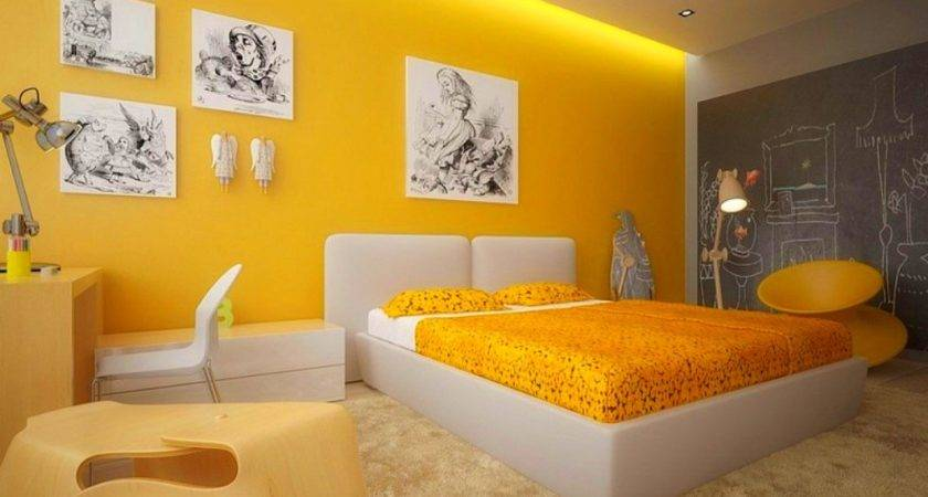 Bedroom Paint Color Shade Ideas Yellow White
