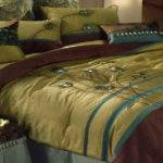 Bedroom Peacock Color Bedding Two Glass