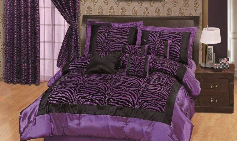 Bedroom Purple Black Zebra Pattern