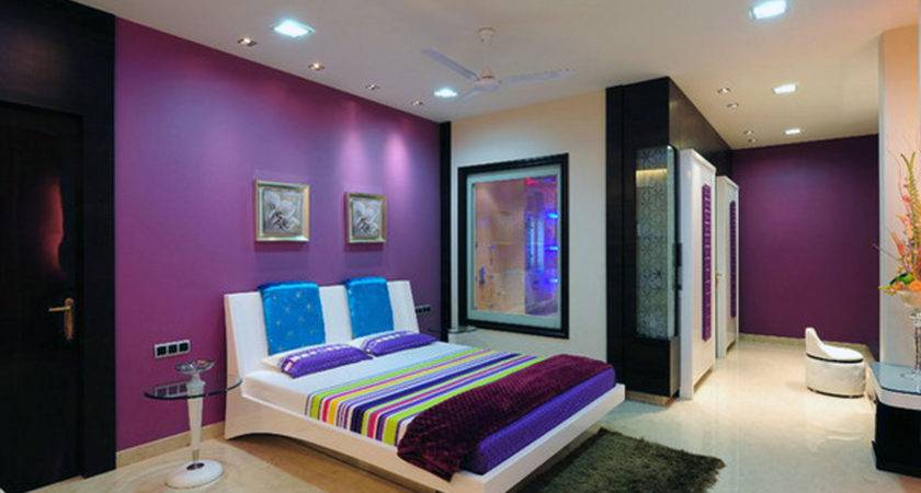 Bedroom Purple Gray Wall Paint Color Combination Diy