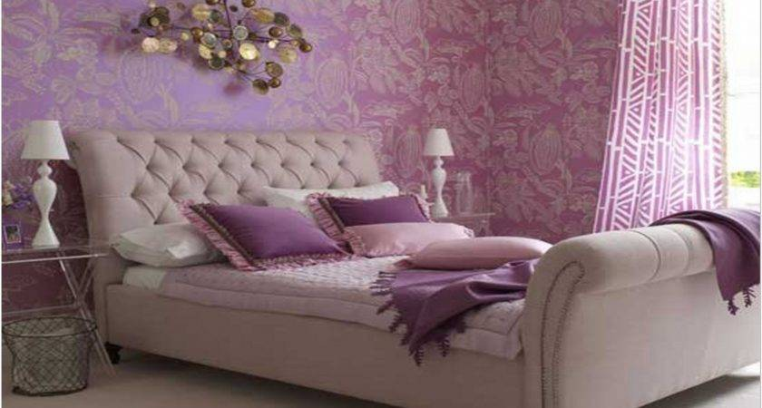 Bedroom Purple Gray Wall Paint Color Combination
