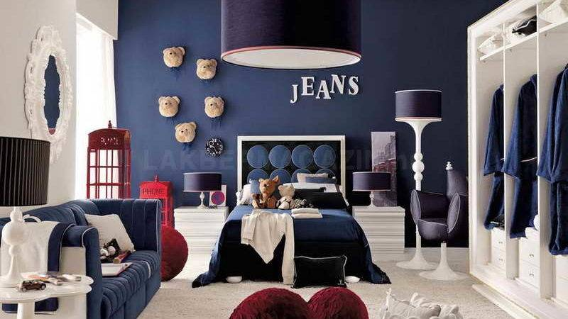 Bedroom Red Blue Ideas Beds Mattress Nearby