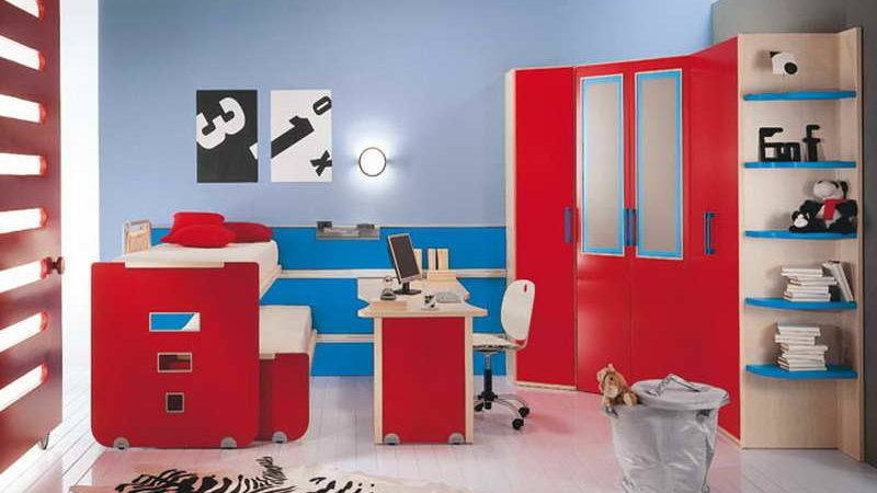 Bedroom Red Blue Ideas Couples Beds