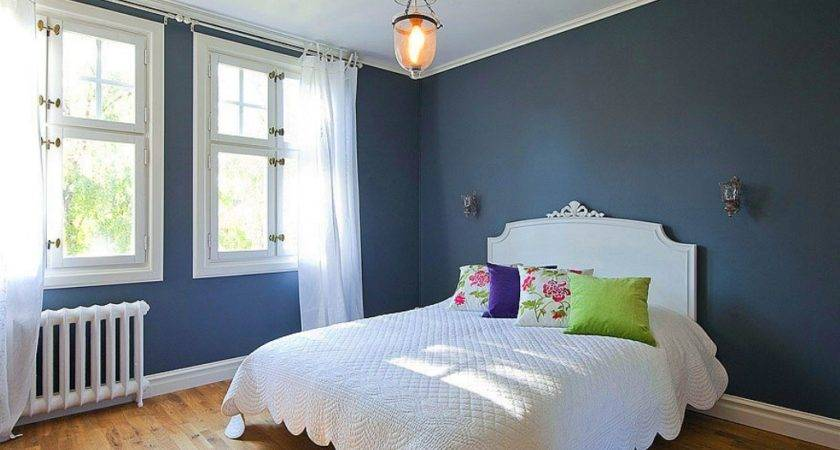 Bedroom Simple Blue Gray Decor Nice