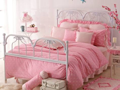 Bedroom Simple Pink Princess Decorating Ideas