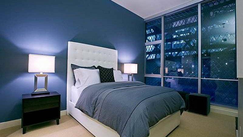 Bedroom Special Design Dark Blue Ideas