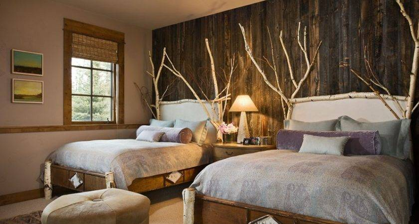 Bedroom Twin Rustic Country Decorating Ideas