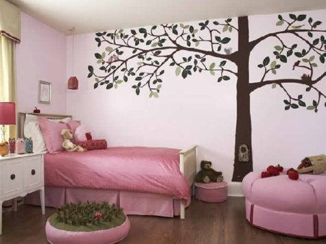 Bedroom Wall Design Ideas Pink Paint
