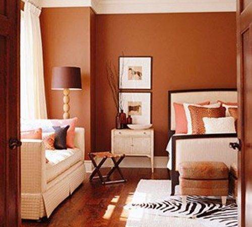 Bedroom Wall Paint Color Combinations Orange Rust