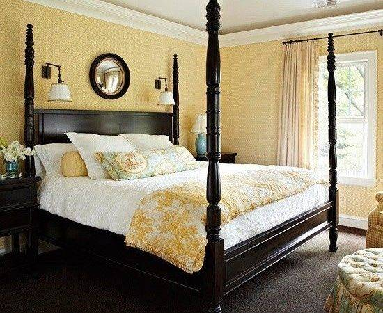 Bedroom Yellow Black Design Bedrooms