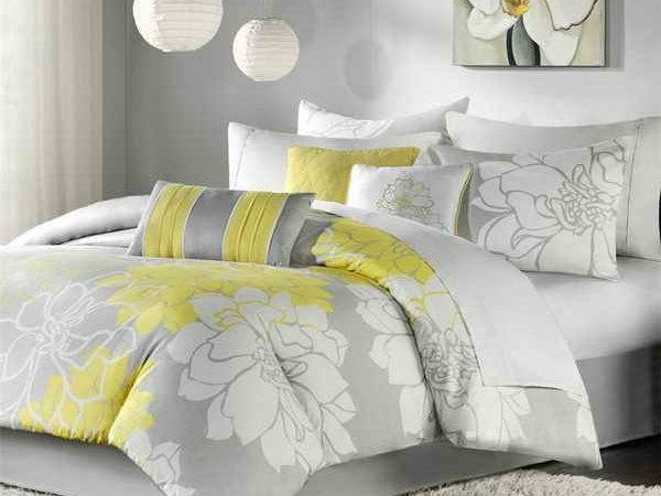 Bedroom Yellow Gray Ideas