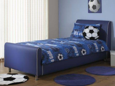Beds Azure Boys Blue Faux Leather Bed