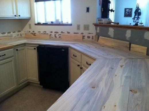 Beetle Kill Pine Kitchen Countertops Mike
