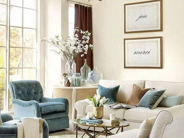 Beige Blue Living Room Regard Dream