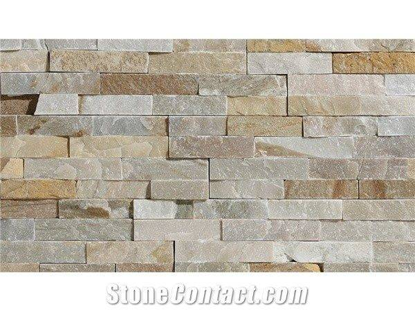 Beige Slate Chinese Wall Decor Stone Cladding Pool