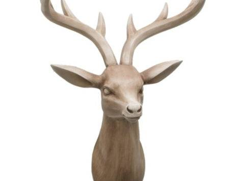 Benzara Resin Deer Head Wall Decoratio Pricefalls