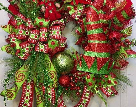 Best Christmas Mesh Wreaths Ideas Pinterest Deco