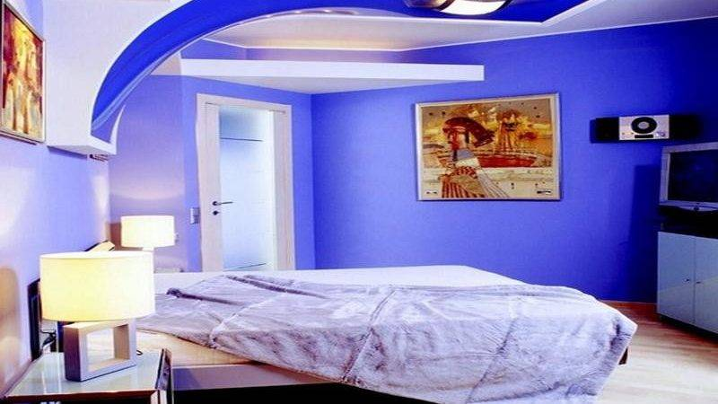 Best Color Combinations Blue Elegant Bedroom