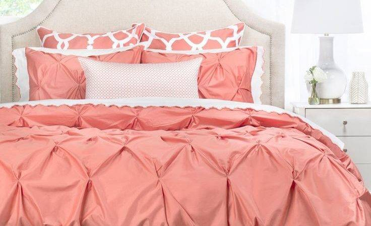 Best Coral Bedspread Ideas Pinterest Grey Bed