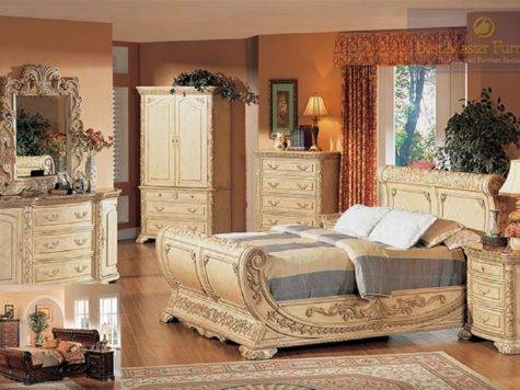 Best Furniture Antique Beige Marble Top