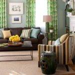 Best Green Brown Living Room Pinterest
