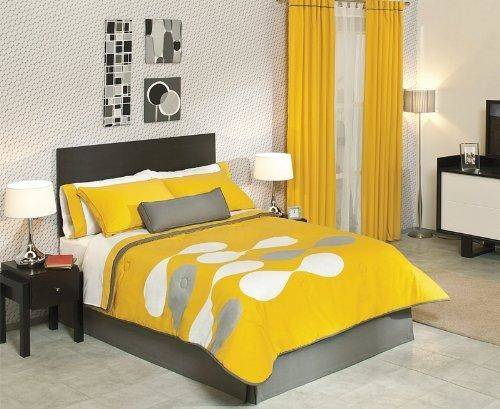 Best Grey Yellow Bedding Set