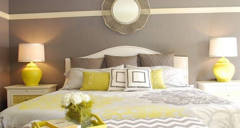 Best Grey Yellow Bedrooms Decorating Ideas Eva
