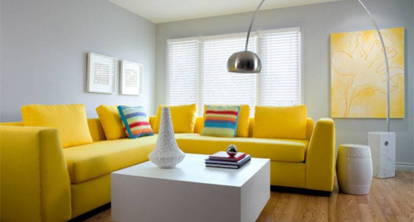 Best Ideas Gray Yellow Living Room Incredible Homes