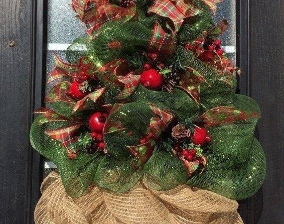 Best Mesh Christmas Tree Ideas Pinterest