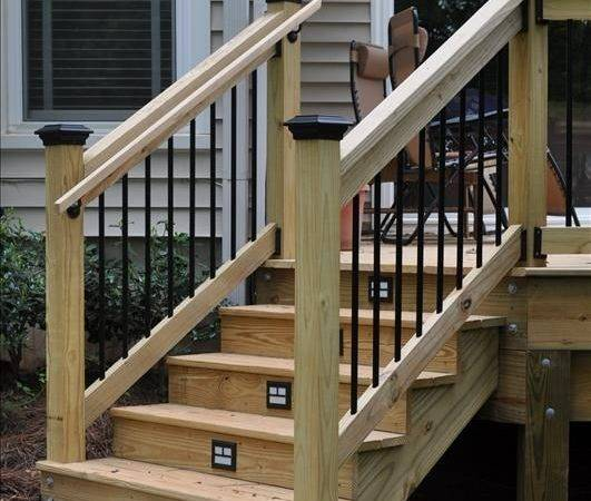 Best Outdoor Stair Railing Ideas Pinterest Deck