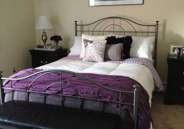 Best Purple Grey Bedding Ideas Pinterest