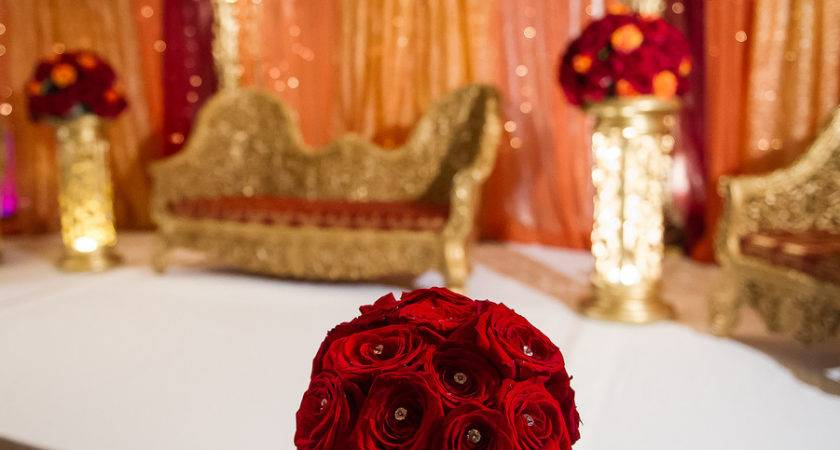 Best Red Gold Wedding Decorations Style