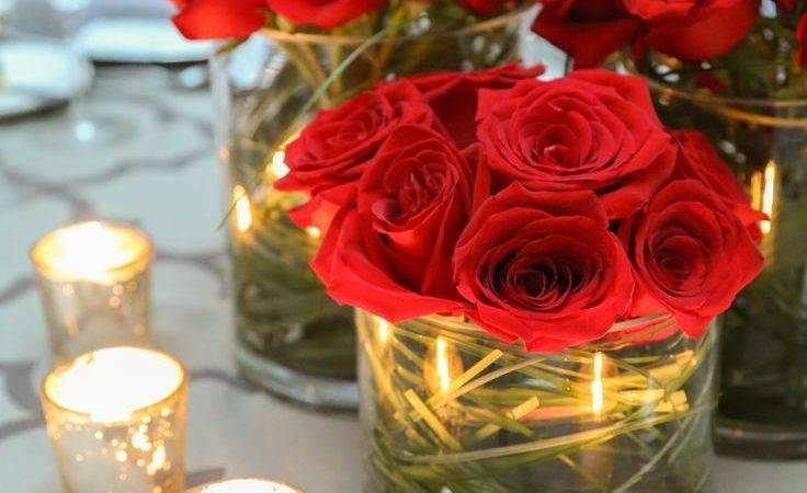 Best Red Rose Centerpieces Ideas Pinterest