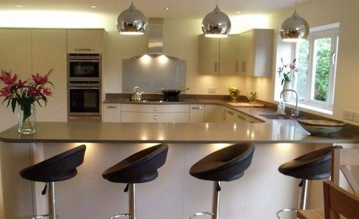 Best Shaped Kitchen Breakfast Bar Ideas