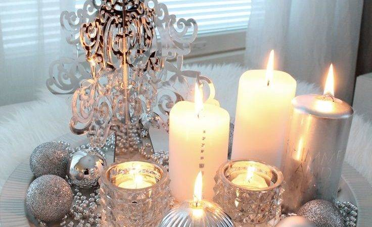 Best Silver Christmas Decorations Ideas Pinterest